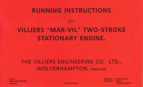 Villiers Engine Books