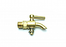 Machined Brass Bent Nose Water Drain Tap