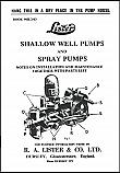 Lister Shallow Well Pumps & Spray Pumps Book