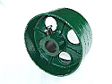 10 Inch Flat Belt Pulley By 2 Inch Mounting